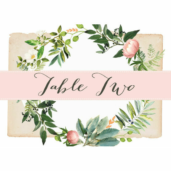 Flora Wreath Table Name