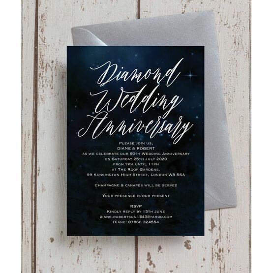 Starry Night 60th / Diamond Wedding Anniversary Invitation