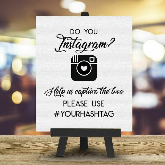 Personalised Wedding Hashtag Instagram Sign