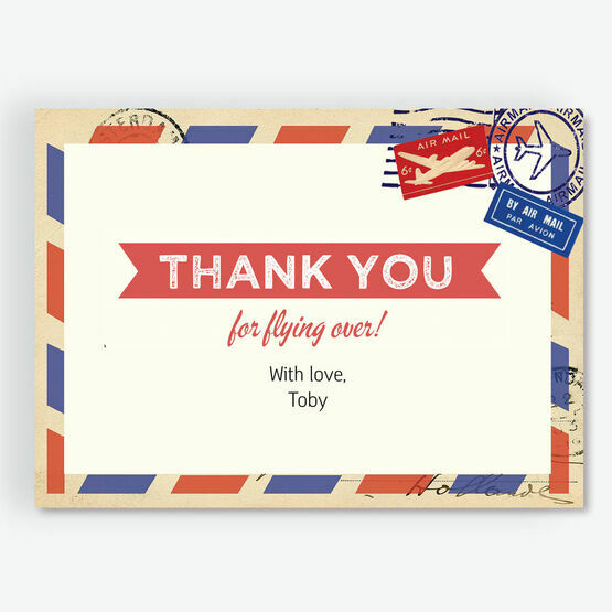 Airmail Thank You Cards