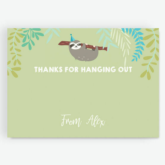 Sloth Thank You Card