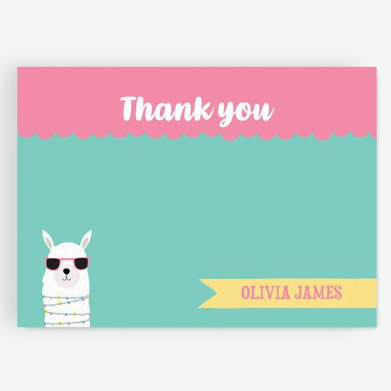 \'Whole Llama Fun\' Thank You Card