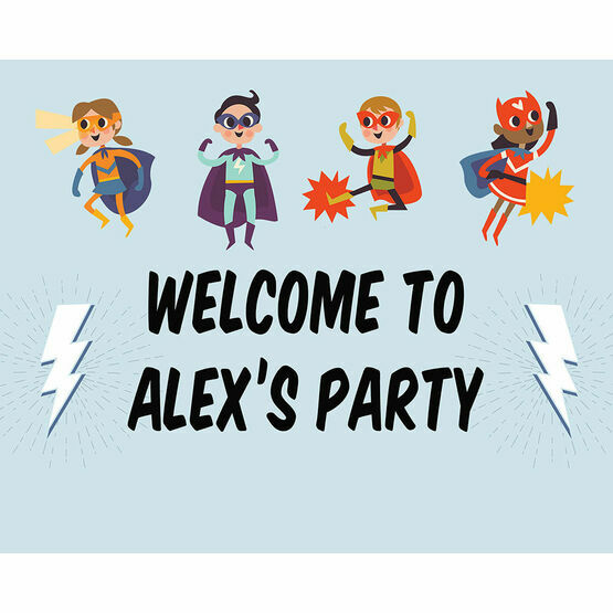 Superheroes Party Sign