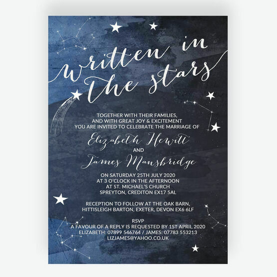 Midnight Stars Wedding Invitation