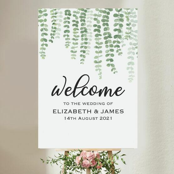 Eucalyptus Wedding Welcome Sign