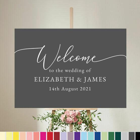 Calligraphy Inspired Wedding Welcome Sign