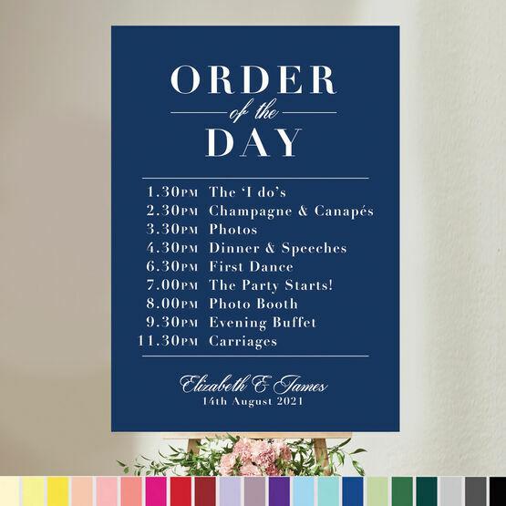 Modern Minimalist Wedding Order of the Day Sign
