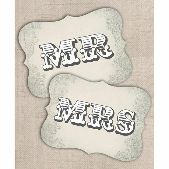 Printable Rustic Western Mr & Mrs Signs