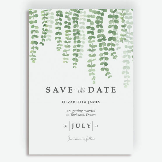 Eucalyptus Save the Date