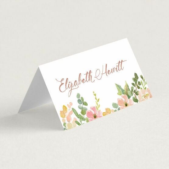 Blush Pink Flowers Place Cards