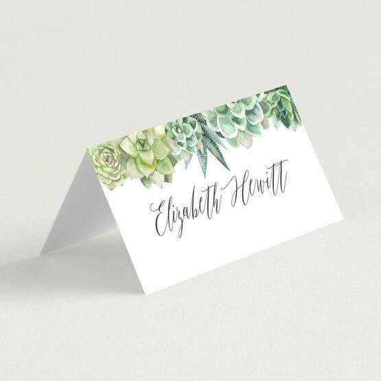 Succulents Place Cards