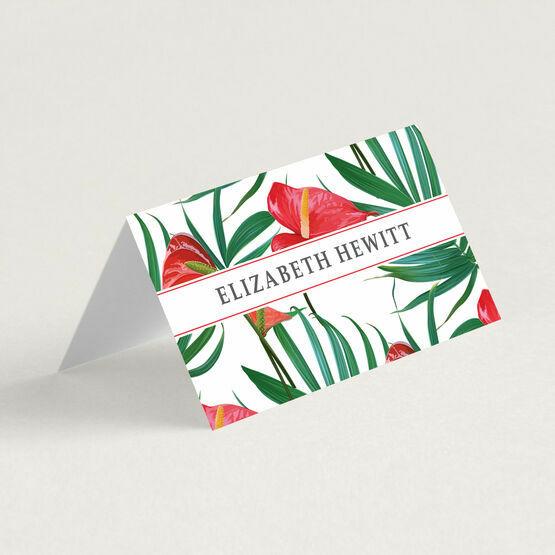 Anthurium Tropical Flowers Place Cards