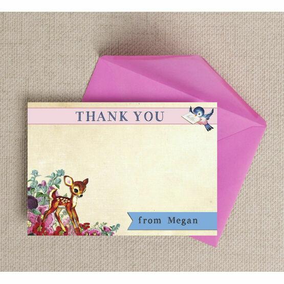 Vintage Deer Thank You Cards