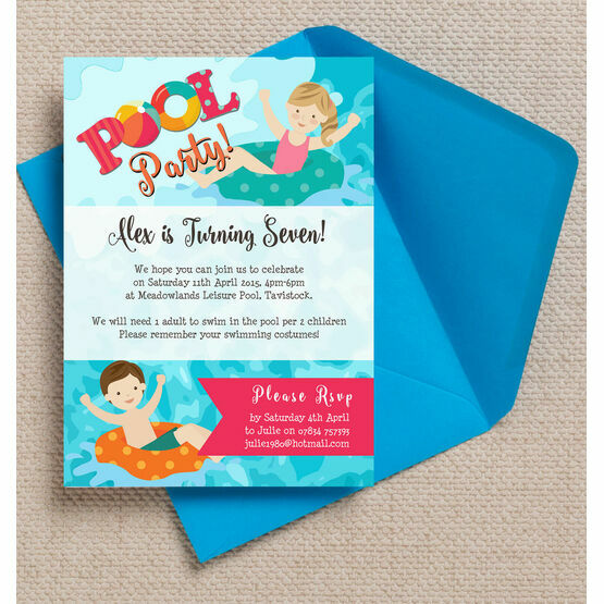 Pool Party Invitation | Swimming Pool Party Invitation From 0 80 Each