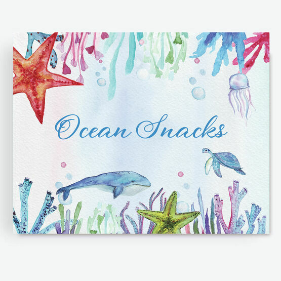 Under the Sea Birthday Party Sign