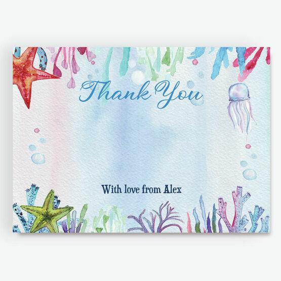 Under the Sea Thank You Card