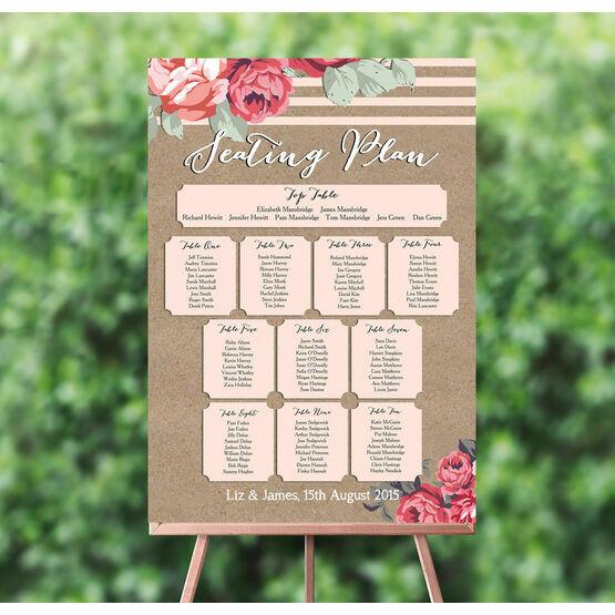 Rustic Floral Wedding Seating Plan
