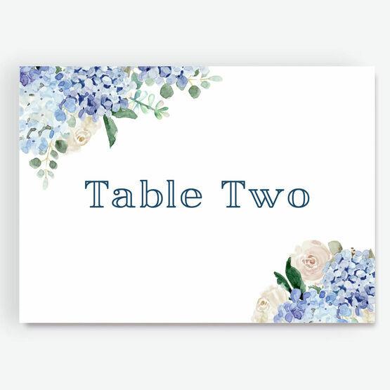 Blue Hydrangea Table Name