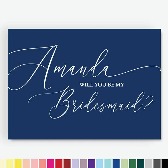 Calligraphy Style 'Be My Bridesmaid' Cards