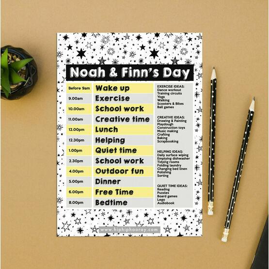 Stars Design Daily Kids' Activity Planner