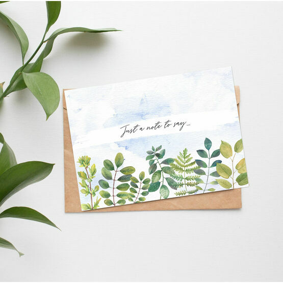 Pack of 10 Watercolour Leaves Note Cards