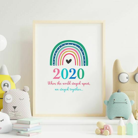 Lockdown Rainbow 2020 Wall Print