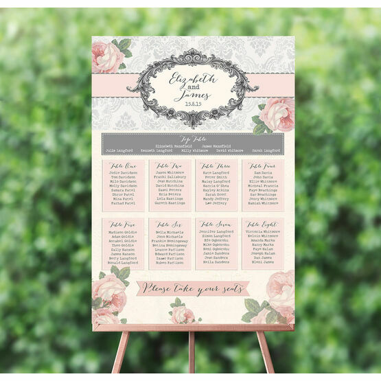 Sweet Vintage Wedding Seating Plan