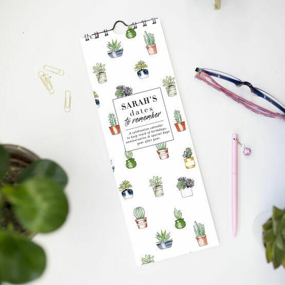 Personalised Cactus Plants Perpetual Calendar
