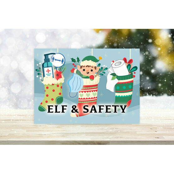 Pack of 10 'Elf & Safety' Christmas Cards