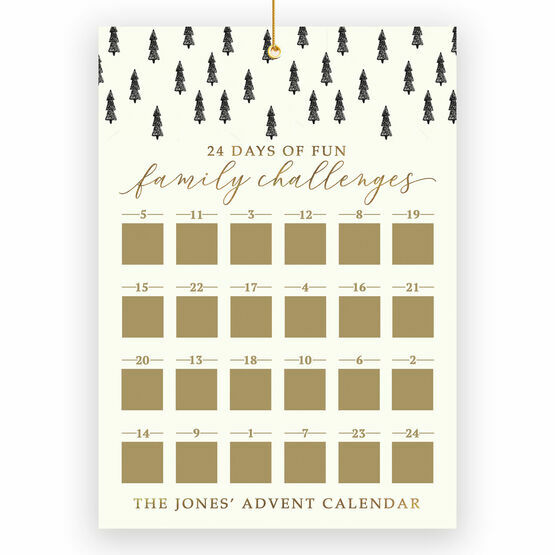 Personalised Family Challenges Scratch Off Advent Calendar