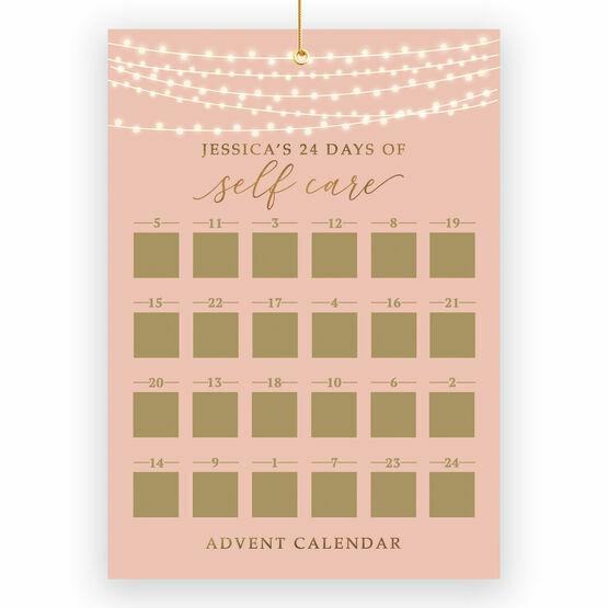 Personalised Self Care Scratch Off Advent Calendar