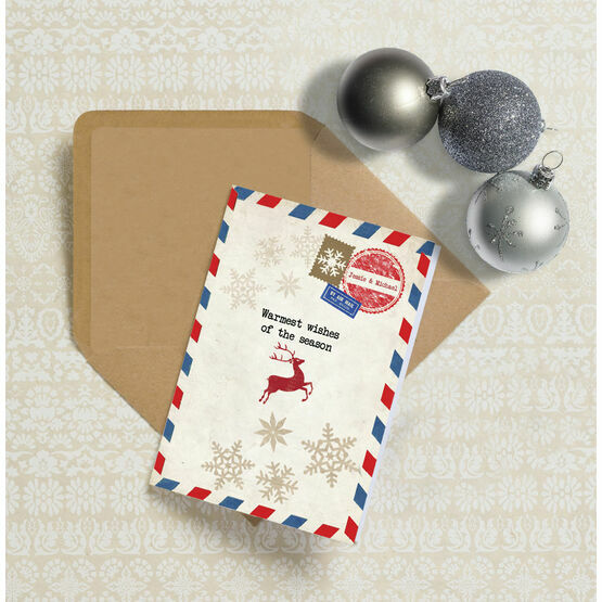 Vintage Airmail Personalised Christmas Cards