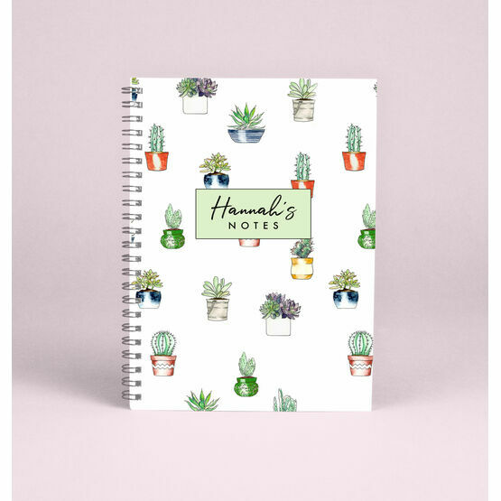 Personalised Cactus A5 Notebook