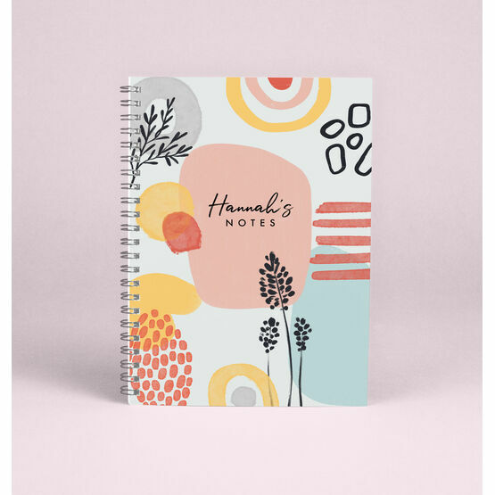 Personalised Abstract A5 Notebook