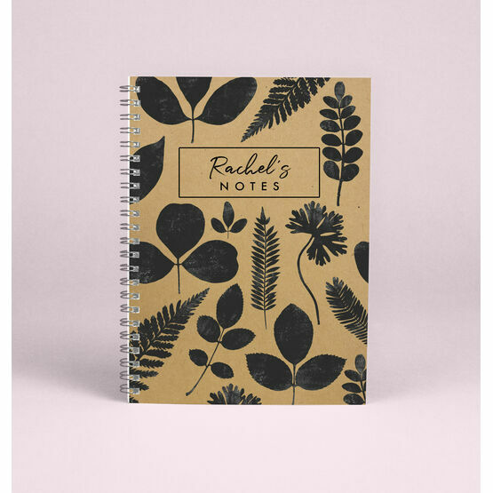 Personalised 'New Leaf' A5 Notebook