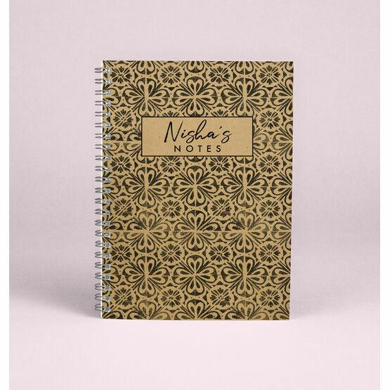 Personalised 'Wanderlust' A5 Notebook