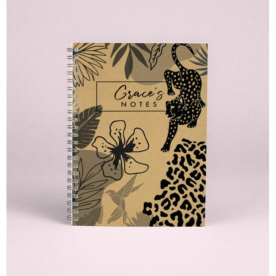 Personalised 'Wild Heart' A5 Notebook