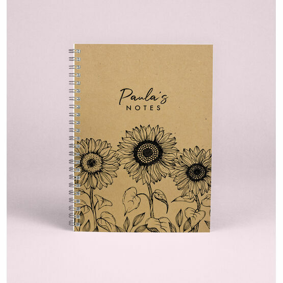 Personalised Sunflowers A5 Notebook