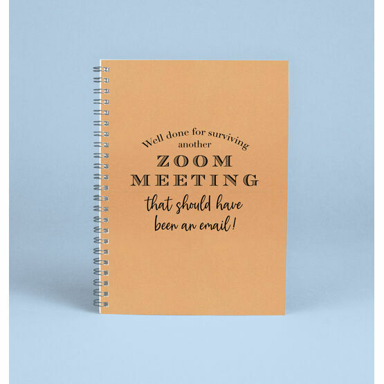 'Surviving A Zoom Meeting' Work From Home Notebook