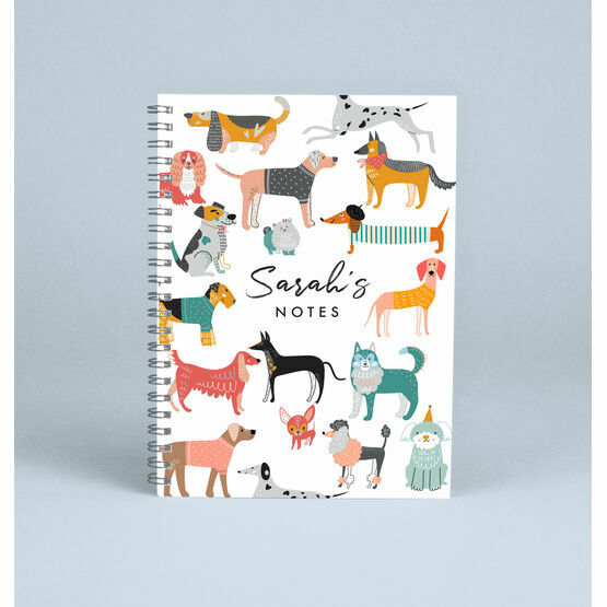 Personalised Dogs Notebook