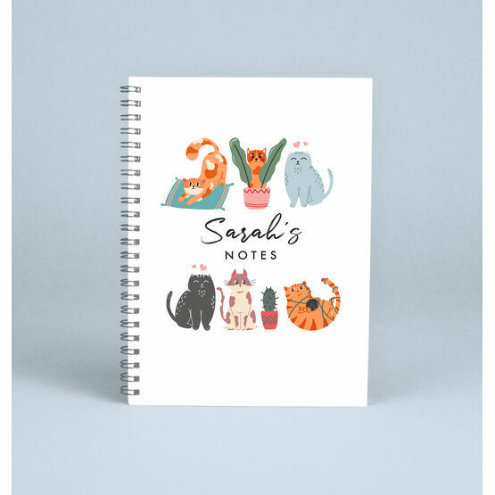 Personalised Cats Notebook