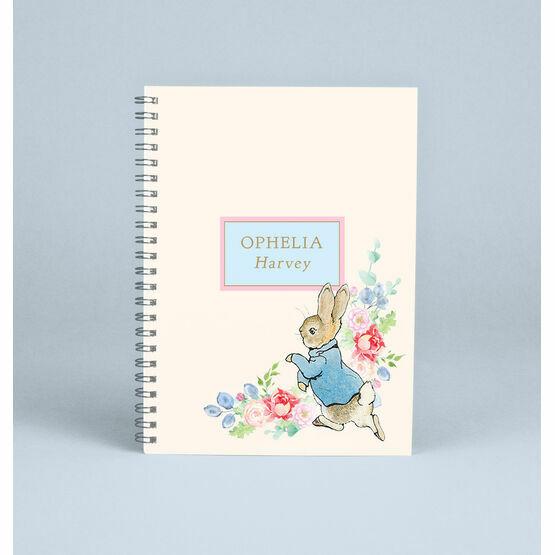 Personalised Peter Rabbit Beatrix Potter Notebook