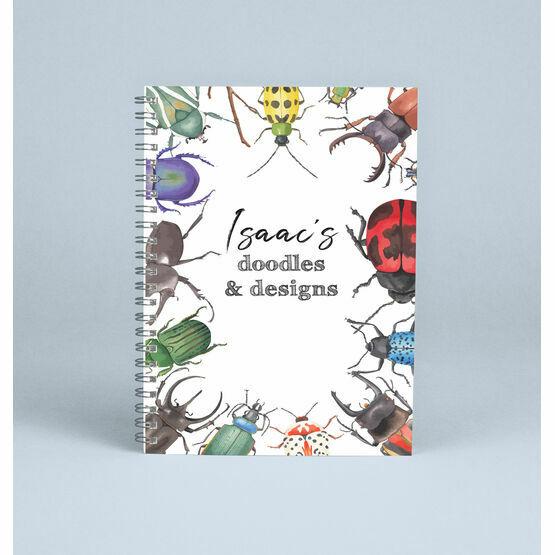 Personalised Garden Bugs Notebook