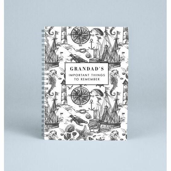 Personalised Nautical Notebook