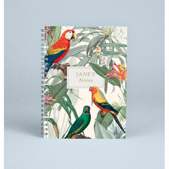 Personalised Tropical Birds Notebook