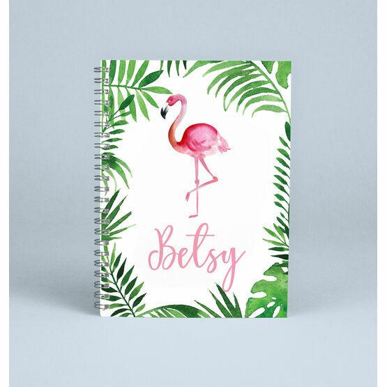 Personalised Flamingo Notebook