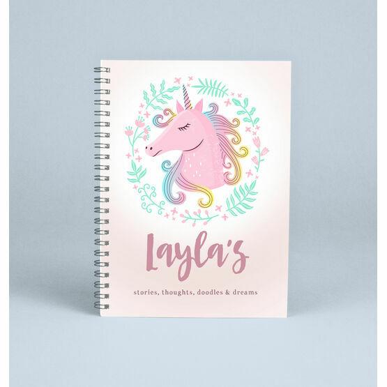 Personalised Unicorn Notebook