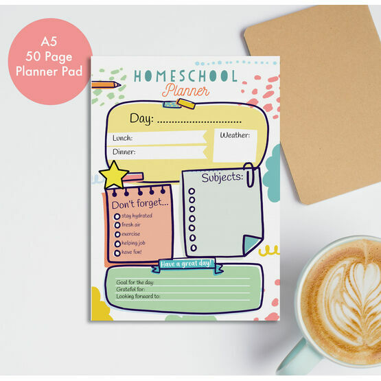 Home Schooling Daily Planner Desk Pad