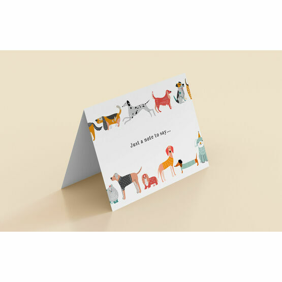 Illustrated Dogs 'Just a Note to Say' Folded Cards