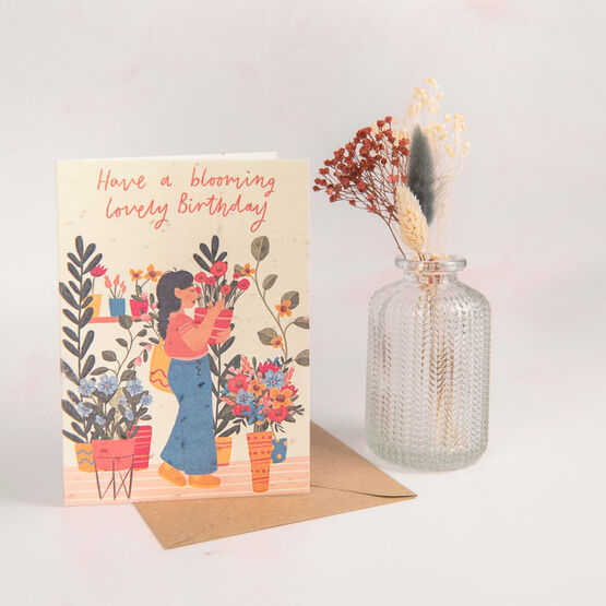 'Have A Blooming Lovely Birthday' Recycled Seeded Card